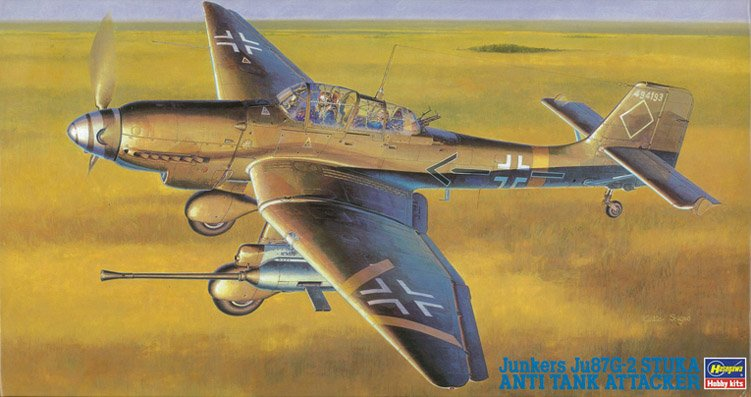 09054 JU87G-2 Stuka anti tank attacker - купить сборную модель самолета HASEGAWA 1/48.