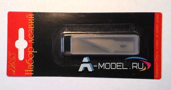 4802 Набор лезвий к ножу с цанговым зажимом 6шт 0:6х9х47 мм - купить инструменты для сборных пластиковых моделей JAS