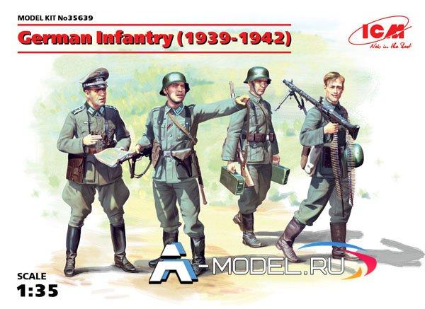 35639 Германская пехота 1939-1942 г. - купить сборные модели фигур и миниатюр ICM 1/35