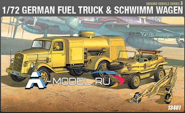 13401 GERMAN FUEL TRUCK & SCHWIMM WAGEN Academy 1/72 :: техника :: танки :: купить не дорого