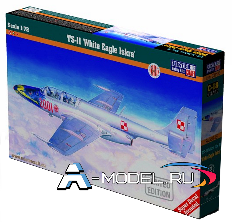C-18 TS-11 White Eagle Iskra Mister Craft сборные модели самолетов 1/72