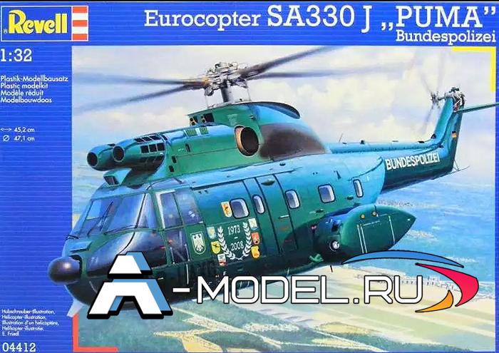 04412 SА330 Puma Revell 1/32 сборные модели самолетов вертолетов