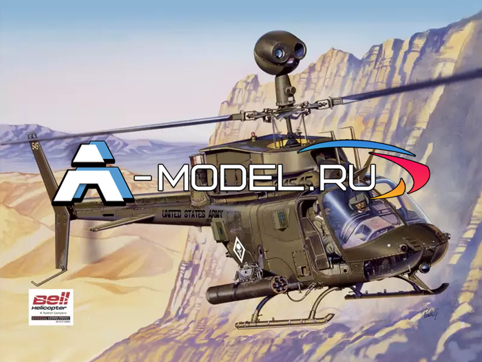 2704 Bell OH-58D Kiowa 1/48 ITALERI купить сборную модель :: самолета :: вертолета.