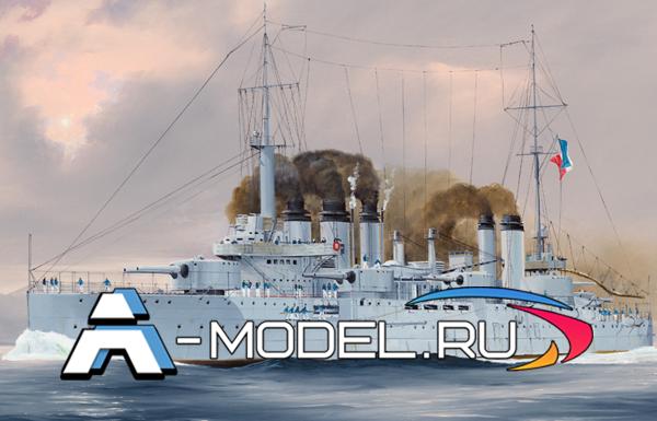 86503 French Navy Pre-Dreadnought Battleship Danton  - купить сборные модели из пластика кораблей и подводных лодок от Hobby Boss разных масштабов