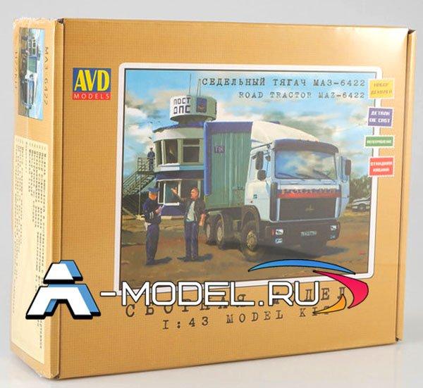 1177KIT МАЗ-6422 седельный тягач AVD 1/43 сборные модели автомобили в деталях