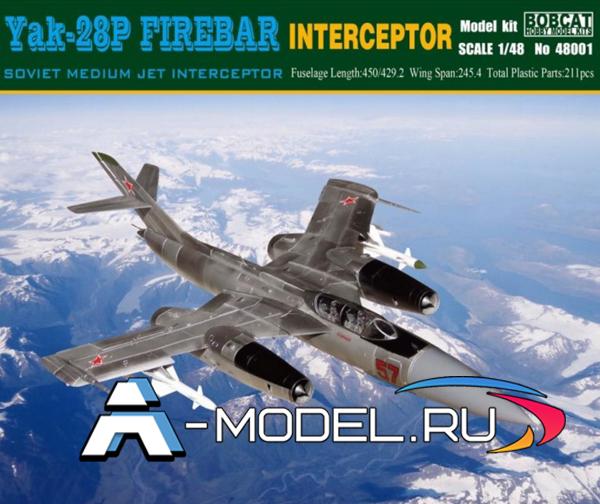 48001 Як-28п  Yak-28p Firebar interceptor Bobcat 1/48 авиация сборные модели самолетов и вертолетов
