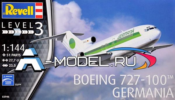03946 Boeing 727-100 Germania - сборные модели самолетов гражданской и военной авиации 1/144 Revell