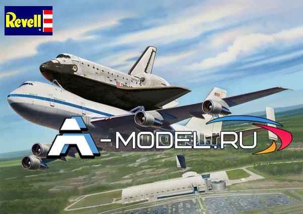04863 Боинг 747 и Орбитальный аппарат  - купить сборную модель самолета 1/144 Revell.