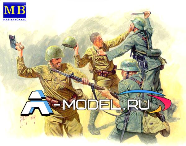 3524 Frontier fight of summer 1941 hand to hand combat Master Box 1/35 миниатюры и фигурки для диорам