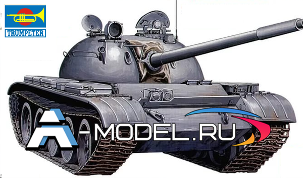 00342 Т-55 1:35 Trumpeter сборные модели танков и техники