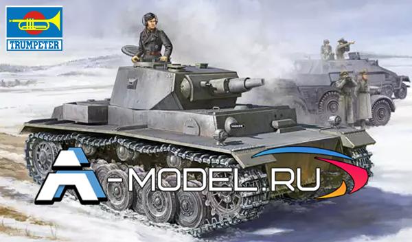 Сборная модель Немецкого танка VK3001 от Trumpeter в масштабе 1/35.