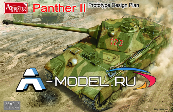 35A012 PANTHER II prototype design plan Amusing 1:35 сборные модели танков и техники