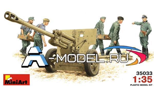 35033 Немецкая 76,2мм пушка FK288 r с расчетом - купить сборную модель самолета 1/35 Mini Art