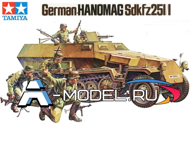 35020 German Hanomag Sdkfz251/1 TAMIYA :: сборные модели :: техника :: 1/35 :: TAMIYA