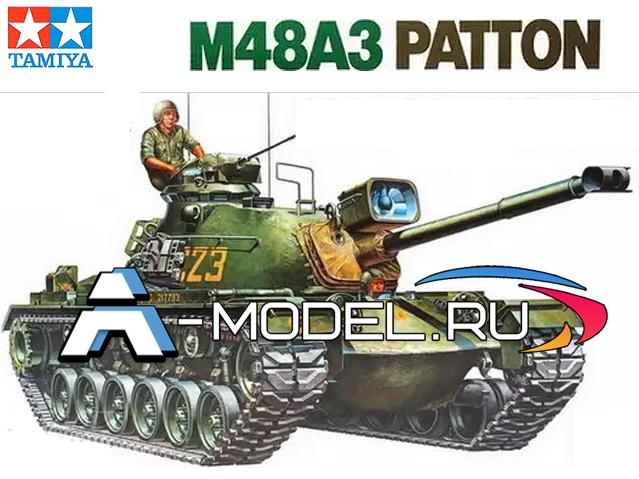 35120 M48A3 PattonTamiya: сборные пластиковые модели,  техника, танки, 1/35 Tamiya