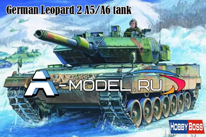 82402 Leopard 2 A5/A6 Tank - купить сборную модель техники 1/35 HobbyBoss.