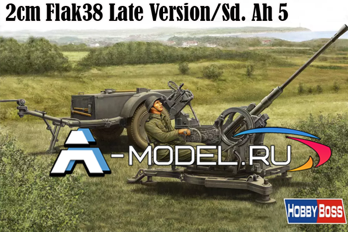 80148 2cm Flak38 Late Version/Sd. Ah 5 1/35 Hobby Boss сборные модели танков и техники из пластика
