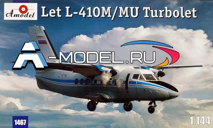 1467 Let L-410M/MU Turbolet - купить сборную модель самолета 1/144 Amodel.