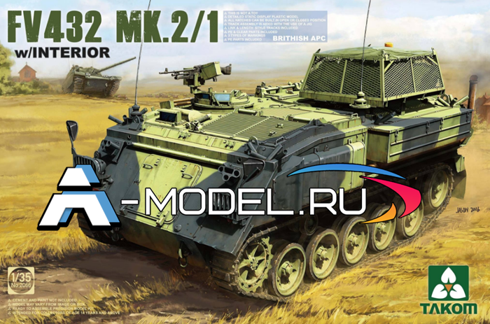 2066 British APC FV432 Mk.2/1 - купить сборную модель техники 1/35 TAKOM