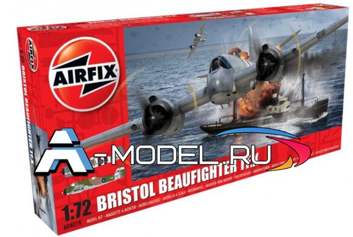 Bristol Beaufighter Mk.X тяжёлый ситребитель сборная модель 1/72 AirFix A04019 цена