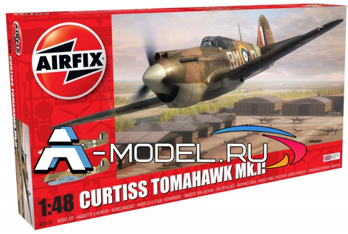 Curtiss Tomahawk MK.II сборная модель 1/48 AirFix A05133 цена