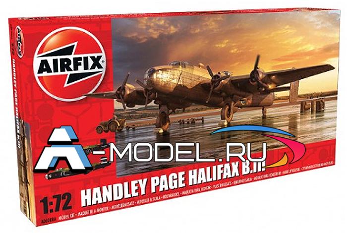 Бомбардировщик Halifax b Mk III сборная модель 1/72 AirFix A06008A цена