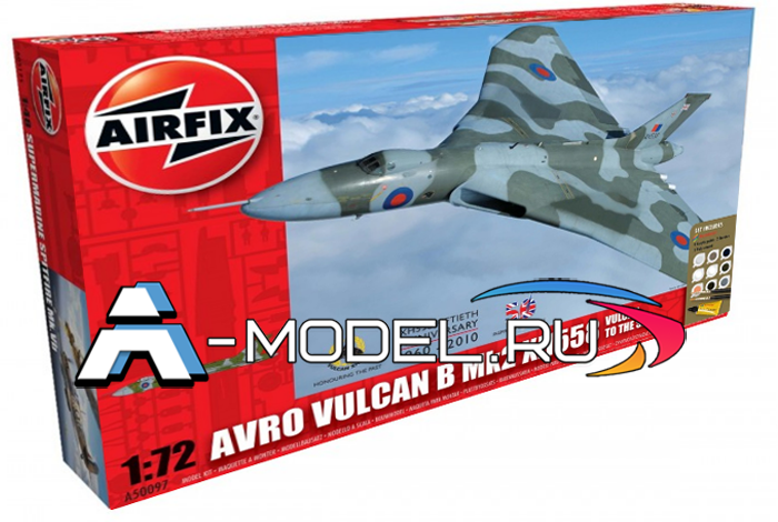 Avro Vulcan B Mk2 XH558 ядерный бомбардировщик сборная модель 1/72 AirFix A50097 цена