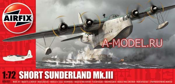 Short Sunderland III бомбардировщик сборная модель 1/72 AirFix 06001 цена