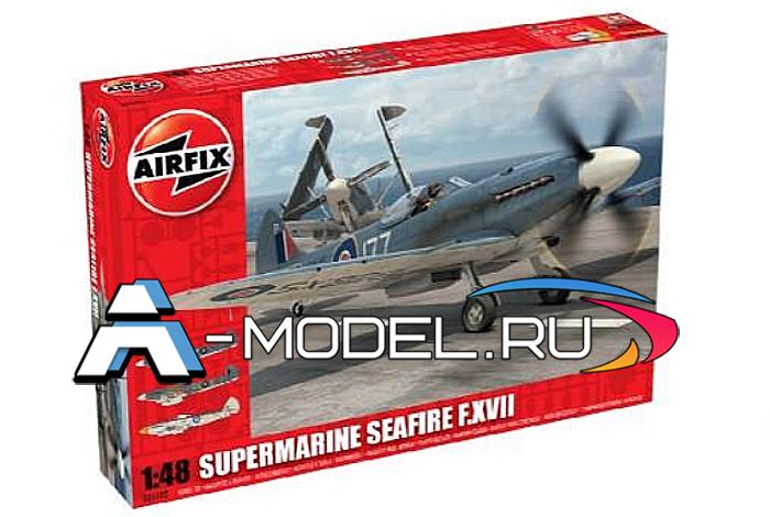 Самолёт Supermarine SEAFIRE XVII сборная модель 1/48 AirFix A06102 цена