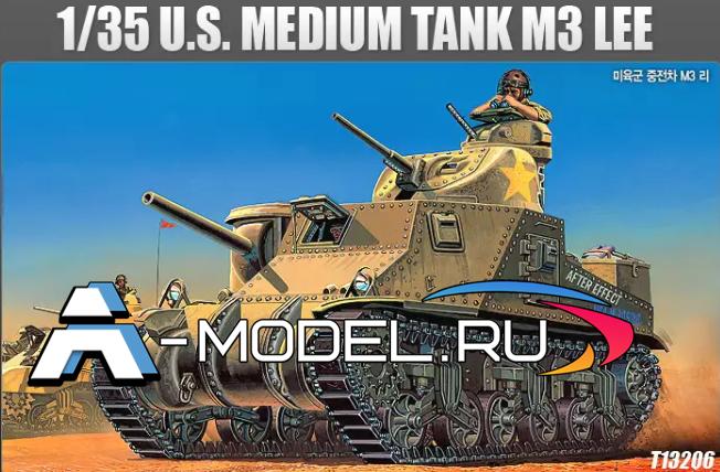 M3 Lee US средний танк с интерьером сборная модель 1/35 Academy 13206 Цена