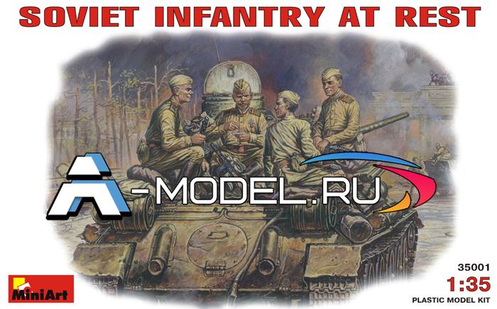 модели Mini Art Советская пехота на отдыхе фигурки сборные масштабные 1/35 MINI ART 35001 , цена