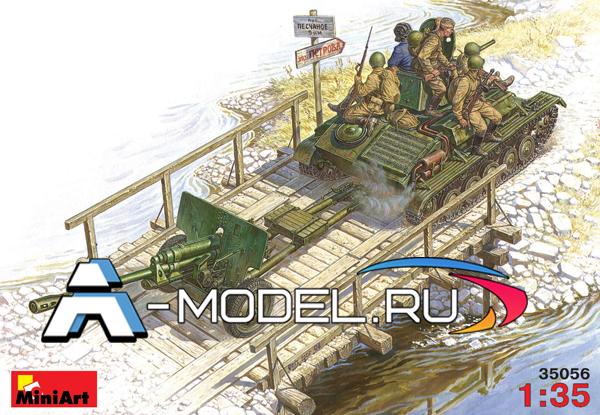 модели Mini Art T-70M и пушка ЗИС-3 с расчетом сборная модель танка 1/35 MINI ART 35056 , цена