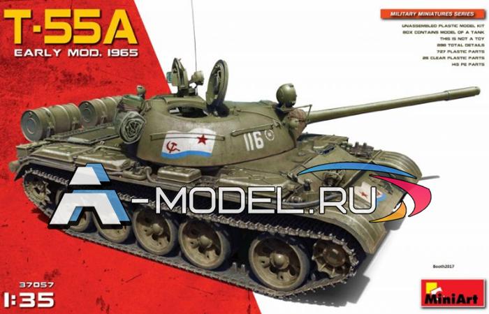модели Mini Art Т-55А модель 1965г сборная модель танка 1/35 MINI ART 37057 , цена