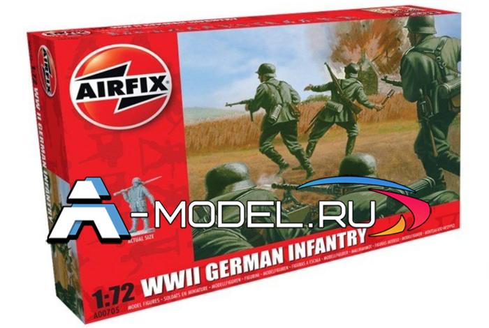 Немецкие солдаты WW II 48 фигур сборные фигурки 1/72 AirFix A00705 цена