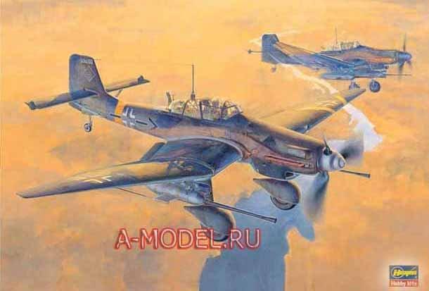 Купить Ju-87G STUKA сборная модель самолёта 1/32 Hasegawa 08075 доставка, цена