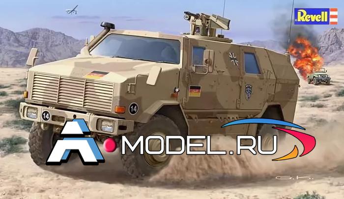 REVELL сборные модели 1:35 Dingo 2A2 armored wehicle Revell 1/35 техника 03233 , цена