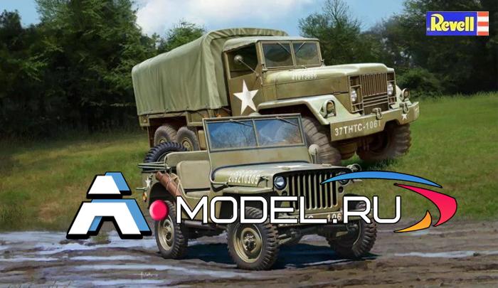 REVELL сборные модели 1:35 Hard truck M34 & Jeeep Revell 1/35 техника 03260 , цена