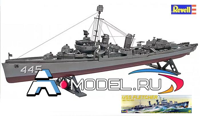 Destroyer USS Fletcher REVELL 1/300 флот 85-3021 REVELL сборные модели кораблей в наличии