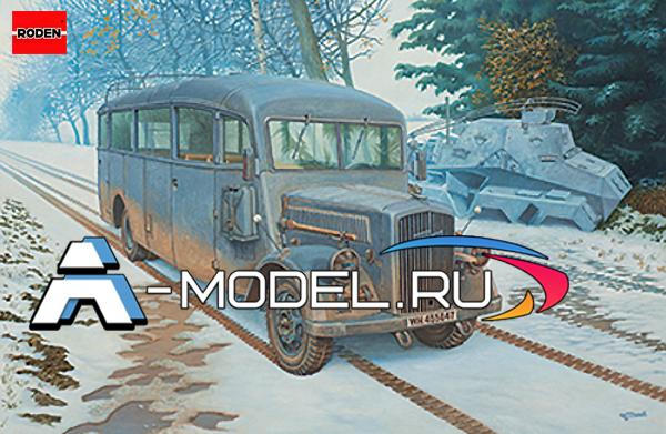 Купить Opel Blitz Omnibus W39 Ludewig сборная модель 1/35 RODEN 807 по доступной цене
