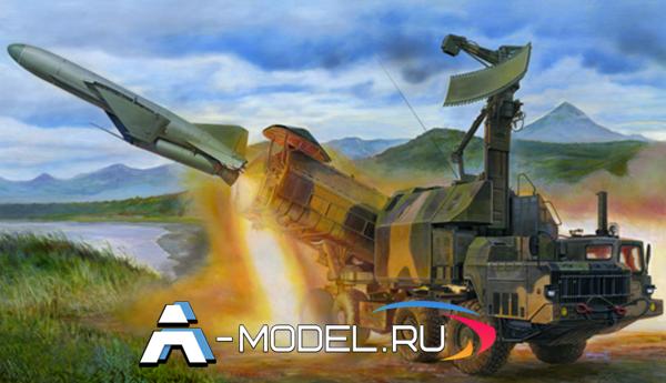 Купить  Комплекс 4К51 Рубеж с ракетой П-15М сборная модель 1/35 TRUMPETER 01035 цена, доставка
