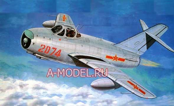 Купить  МиГ-17ПФ сборная модель 1/32 TRUMPETER 02206 цена, доставка