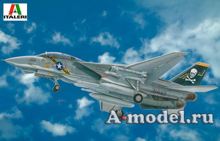 Купить F-14А Tomcat сборная модель самолёта 1/48 ITALERI 2667 цена, доставка