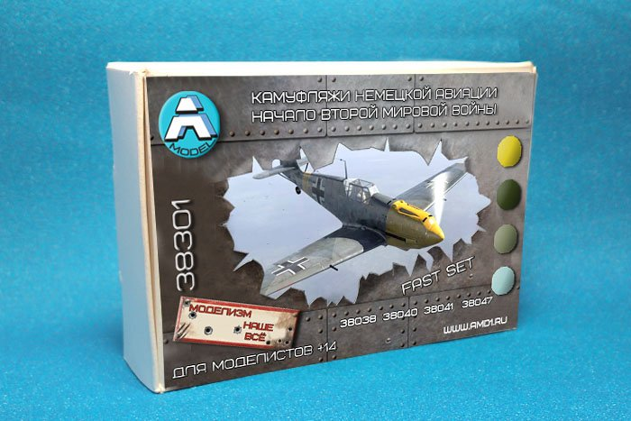 Купить Камуфляжи немецкой авиации начала второй мировой войны А-MODEL 38-серия наборы красок для моделей 38301 , цена