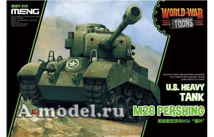 M26 Pershing toons модель танка MENG WWT-010 в наличии купить по низкой цене в интернет-магазине A-model