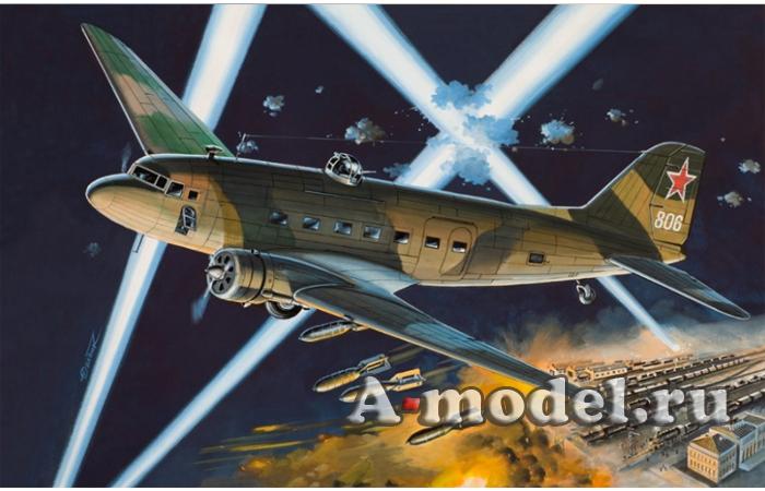 Купить Ли-2НБ Ночной бомбардировщик сборная модель самолёта 1/144 Восточный Экспресс 14433 цена, доставка