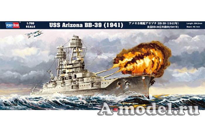 Корабль USS Arizona BB-39 сборная модель 1/700 Hobby Boss 83401 купить, цена