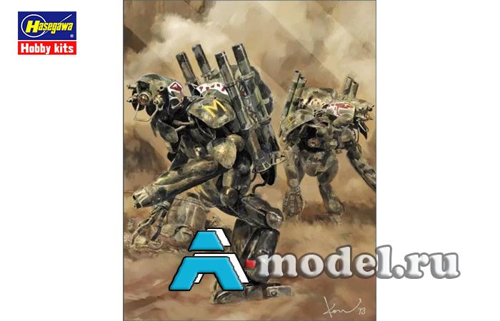 Купить Боевой робот HUMANOID UNMANNED INTERCEPTOR GROBER HUND KYKLOP сборная модель 1/20 Hasegawa 64106 доставка, цена