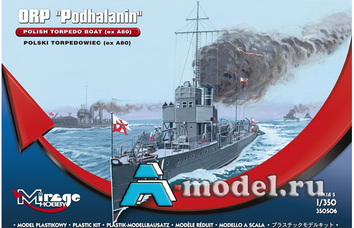 сборную модель Торпедный эсминец ORP PODHALANIN сборная модель корабля 1/350 Mirage Hobby 350506 Mirage Hobby, цена