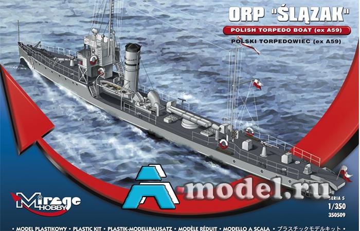 сборную модель Корвет ORP SLAZAK сборная модель корабля 1/350 Mirage Hobby 350509 Mirage Hobby, цена