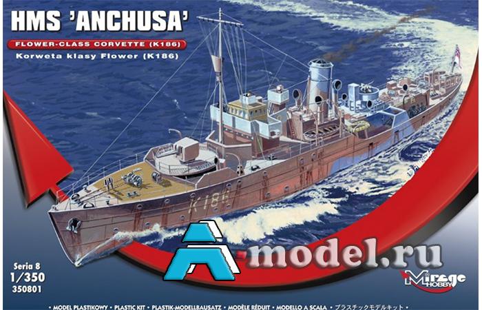 сборную модель Корвет HMS Anchusa сборная модель корабля 1/350 Mirage Hobby 350801 Mirage Hobby, цена